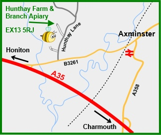 Map for Hunthay Farm, venue for summer apiary meetings