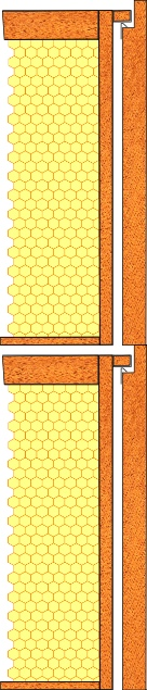 Cross section of a top beespace hive