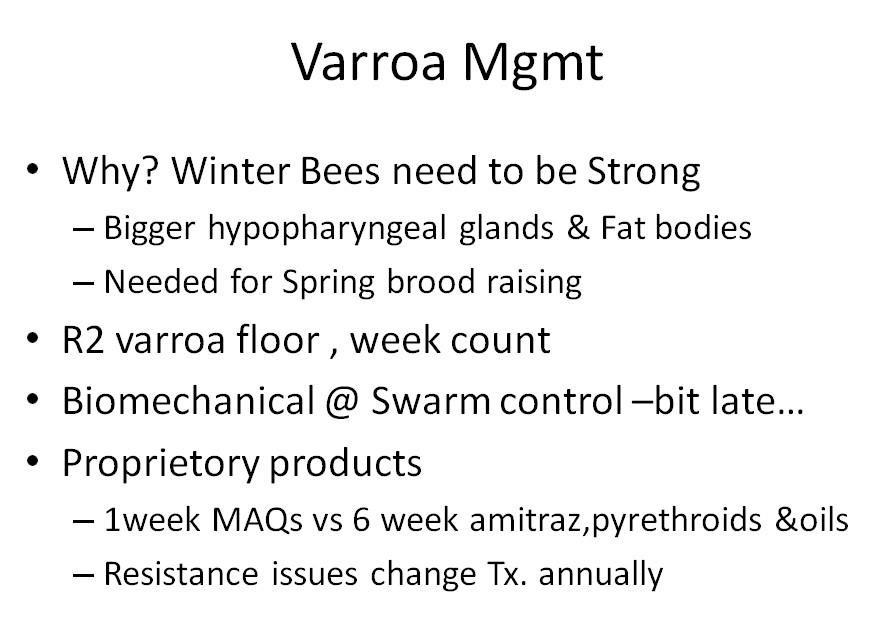 Varroa Management